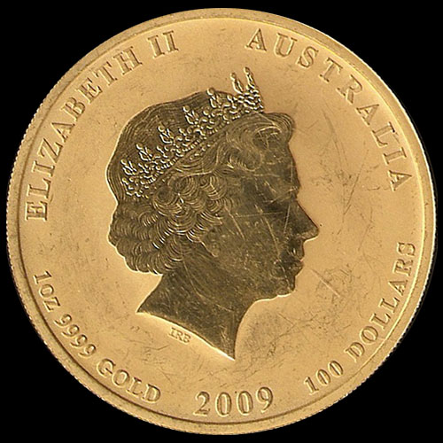 AUSTRALIA - 100 DOLLARS - AÑO 2009 - ELIZABETH II - YEAR OF THE OX - MONEDA DE ORO