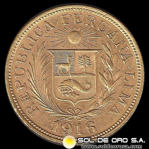 Sol de ORO S.A. - REPÚBLICA PERUANA - LIMA - UNA LIBRA