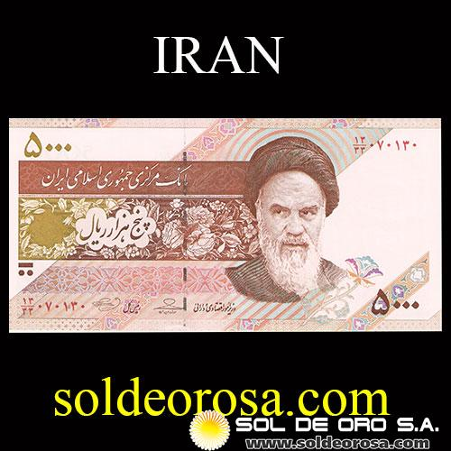 CENTRAL BANK OF THE ISLAMIC REPUBLIC OF IRAN - 5.000 RIALS - FIVE THOUSAND RIALS