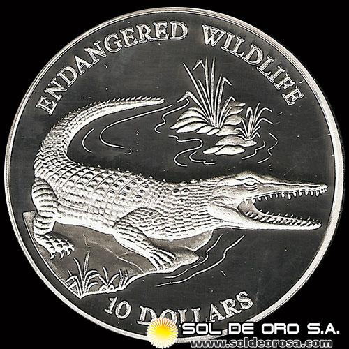 SOLOMON ISLANDS - SERIE ANIMALES EN EXTINCIÓN - 10 DOLLARS - AŃO 1992 - MONEDA DE PLATA