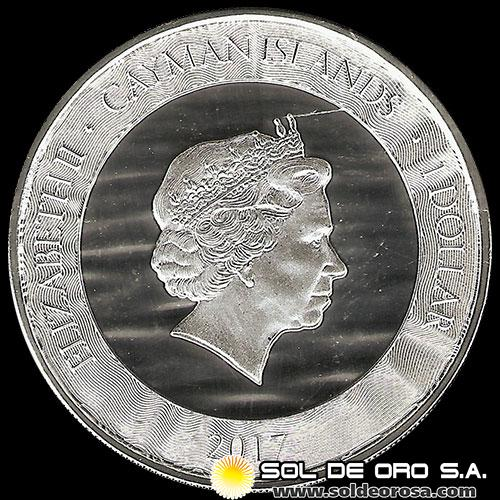 CAYMAN ISLANDS - 1 DOLLAR - ELIZABETH II - 2017 - MARLIN - MONEDA DE PLATA