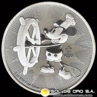 NIUE - MICKEY (DISNEY) - TWO DOLLAR - ELIZABETH II - 2017 - MONEDA DE PLATA