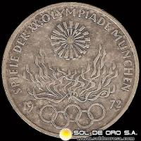 ALEMANIA - 10 MARK - AÑO 1972 f - Subject: Munich Olympics - MONEDA DE PLATA