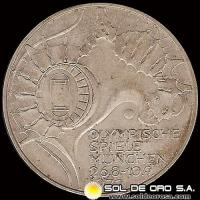 ALEMANIA - 10 MARK - AÑO 1972 j - Subject: Munich Olympics - MONEDA DE PLATA