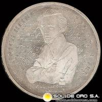 ALEMANIA - GERMANY - FEDERAL REPUBLIC - 10 MARK / 10 MARCOS, 1997 D - Subject: 200 th Birth Anniversary - Heinrich Heine - MONEDA DE PLATA