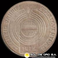 AUSTRIA - 100 SCHILLING, 1975 (Subject: 20th Anniversary - State Treaty) - MONEDA DE PLATA