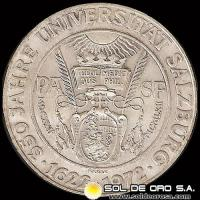 AUSTRIA - 50 SCHILLING, 1972 (Subject: 350th Anniversary - Salzburg University) - MONEDA DE PLATA