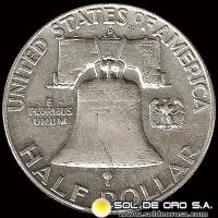 ESTADOS UNIDOS - UNITED STATES - FRANKLIN HALF DOLLAR, 1961 - MONEDA DE PLATA