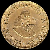 SUDÁFRICA - 2 RAND – AÑO 1973 - EENDRAG MAAK MAG * UNITY IS STRENGTH - MONEDA DE ORO