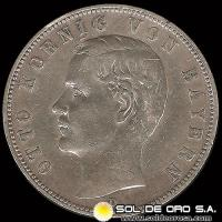 ALEMANIA - GERMAN STATES (KINGDOM - REFORM COINAGE) - 5 MARK - AÑO: 1900 - Ruler: Otto Koenig Von Bayern - MONEDA DE PLATA