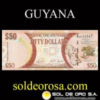 BANK OF GUYANA - (50) FIFTY DOLLARS, 2016