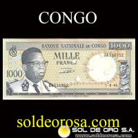 BANQUE NATIONALE DU CONGO - MILLE FRANCS, 1964