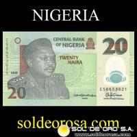 CENTRAL BANK OF NIGERIA - 20 NAIRA, 2015