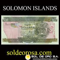 SOLOMON ISLANDS - TWO DOLLARS IN SOLOMON ISLANDS