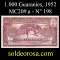 Billetes 1952 7- 1.000 Guaraníes