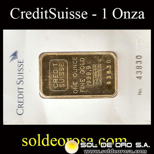 Credit Suisse 31 1 Gramos One Ounce Fine Gold